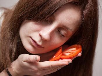 sivilceler için domates